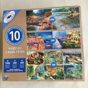 PREMIUM QUALITY BLUE BOARD PUZZLES 10 FAMILY PACK